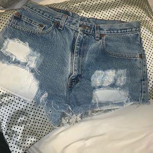 vintage levi shorts size large